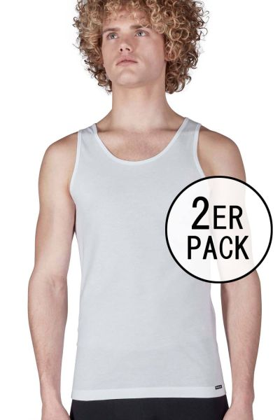 Tank Top im Doppelpack - SHIRT COLLECTION Skiny men