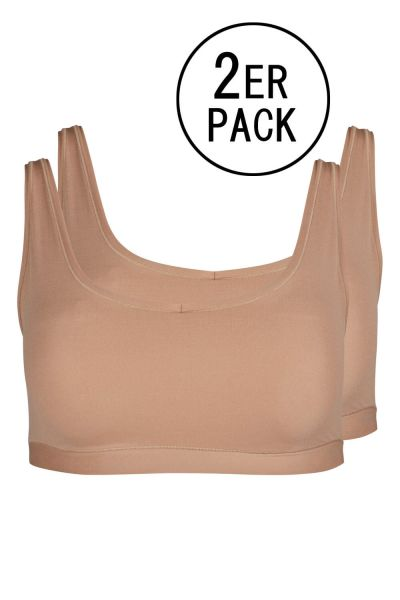 BRONZE • 080076 • Bustier im Doppelpack • Pure Nudity • Skiny
