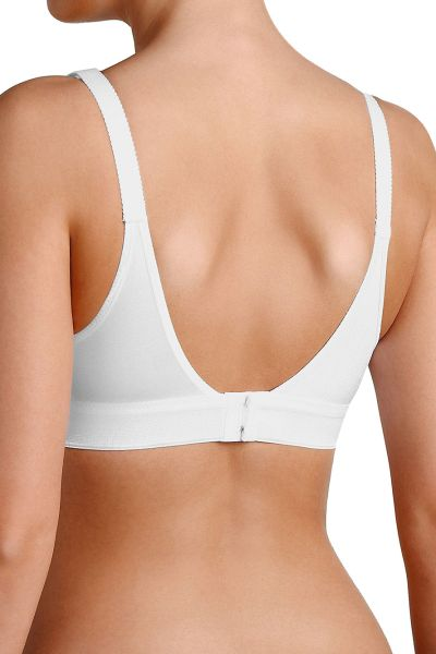WHITE • Sport BH ohne Bügel • Workout • Trication