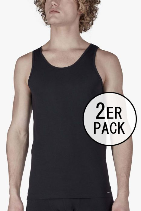 BLACK • 086910 • Tank Top im Doppelpack • Shirt Collection • Skiny men